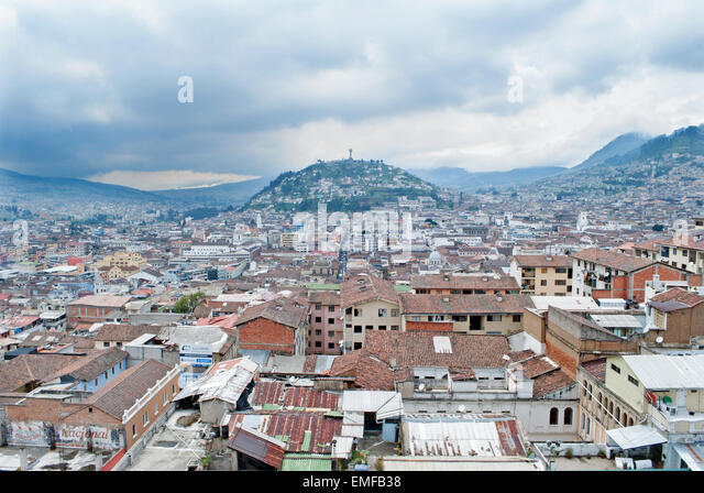 Quito - The outlook from Metropolitan Cathedral - Stock Image