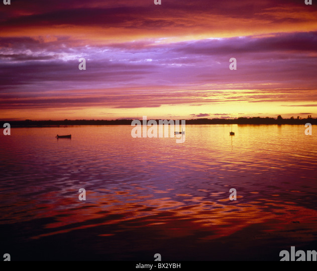 Sunset Over Sea, Ireland - Stock Image