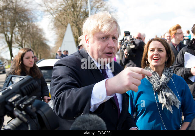 Boris Johnson MP Conservative Foreign Secretary - Stock Image