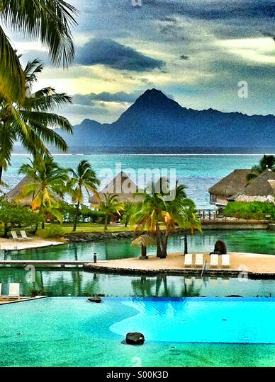 Tahiti in French Polynesia - Stock-Bilder
