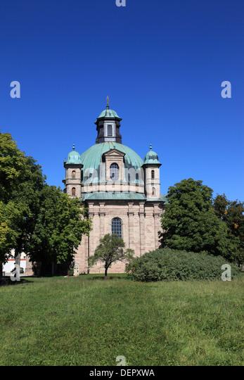 Sanctuary Maria-Hilf at the city Freystadt, Middle Franconia, Franconia, Bavaria, Germany. Photo by Willy Matheisl - Stock Image