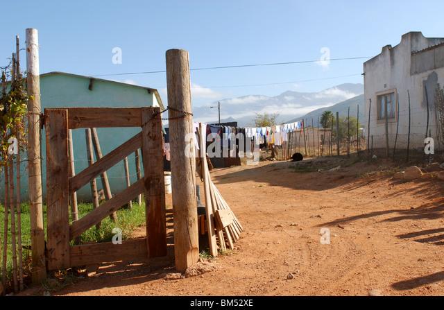 backyard in the township - Stock-Bilder