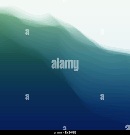 Water Wave. Vector Illustration For Your Design. - Stock Image