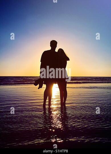 Sunset Couple - Stock-Bilder