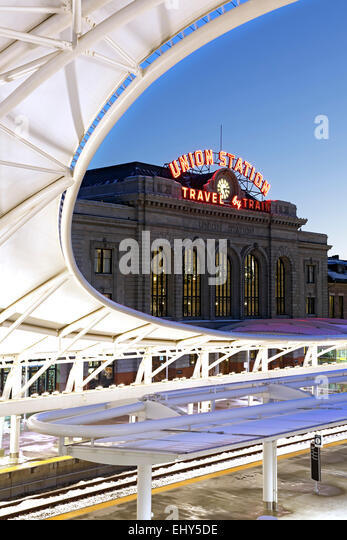 Union Station, Denver, Colorado USA - Stock Image