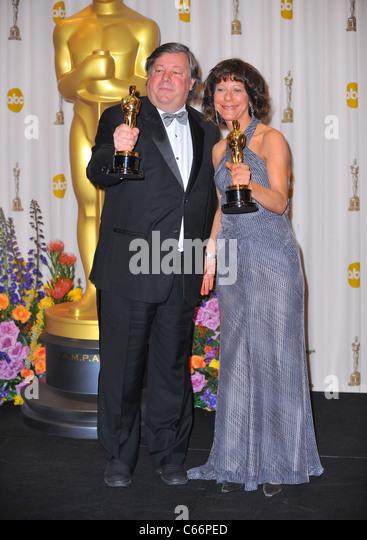 Karen Goodman, Kirk Simon, Best Documentary, Short Subjects for STRANGERS NO MORE in the press room for The 83rd - Stock Image