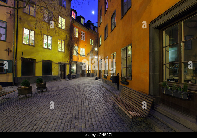 The Old town, Stockholm, Sweden - Stock Image