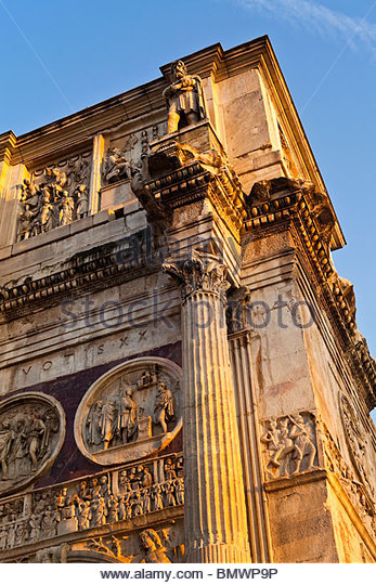 Italy, Rome, the Arch of Constantine. - Stock Image