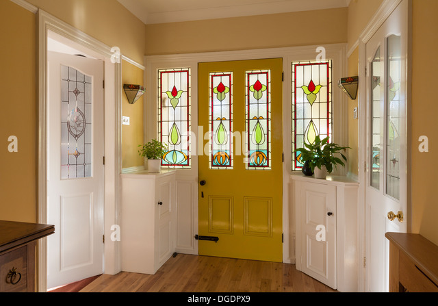 Hallway front door home stock photos hallway front door for Domestic front doors