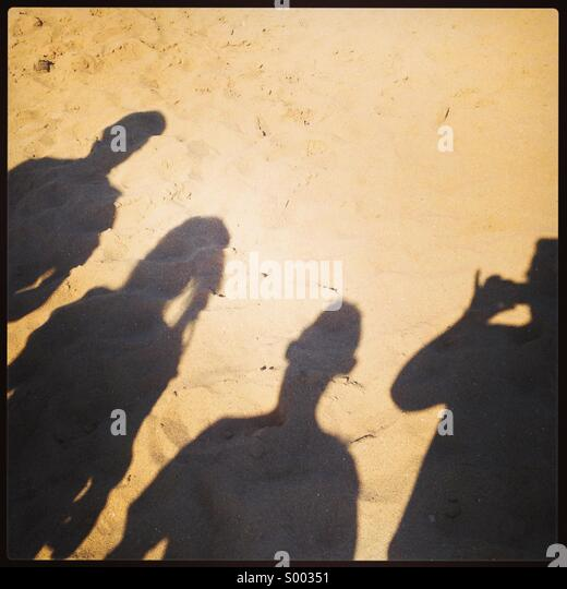 Shadow family - Stock Image