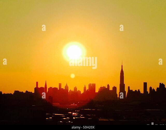 NYC SKY LINE - Stock-Bilder