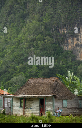 Rural farmhouse near Vinales, Cuba - Stock Image