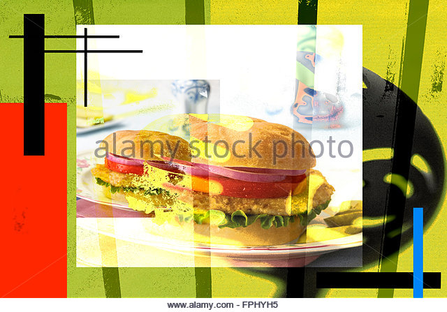 Trapped in fast food - Stock Image
