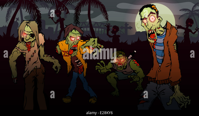 Figure walking dead on a white background. Isolated zombies coming at you. - Stock Image