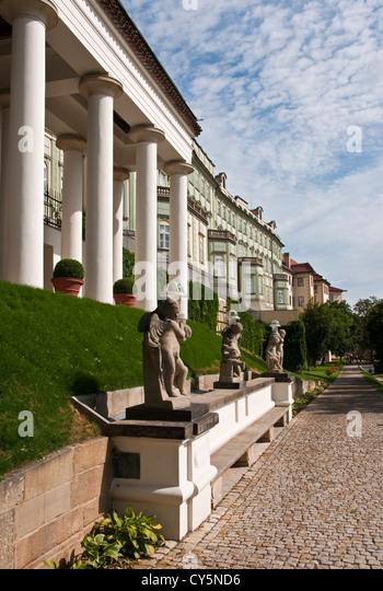 Rampart Garden along the back of the Prague Castle - Stock Image