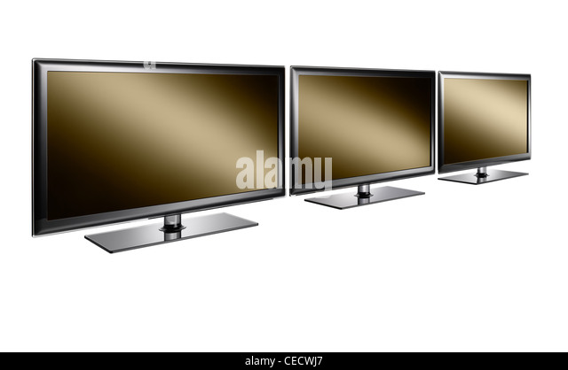 Three televisions in a row - Stock Image