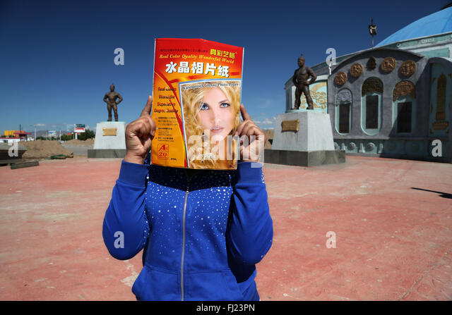 Mongolia pictures of people and landscapes - Stock Image