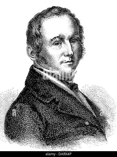 Schwab, Gustav, 19.6.1792 - 4.11.1850, German author / writer, portrait, wood engraving, 19th century, writer, author, - Stock-Bilder