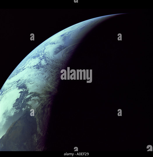 Crescent earth from space - Stock Image