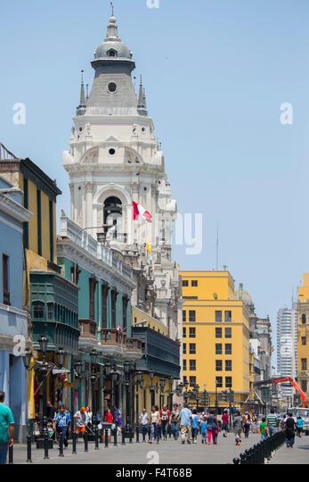 South America, Latin America, Peru, Lima, Centro - Stock Image