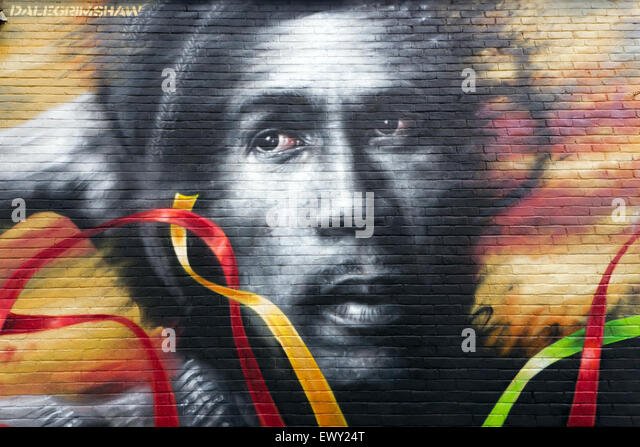 Bob marley stock photos bob marley stock images alamy for Bob marley mural
