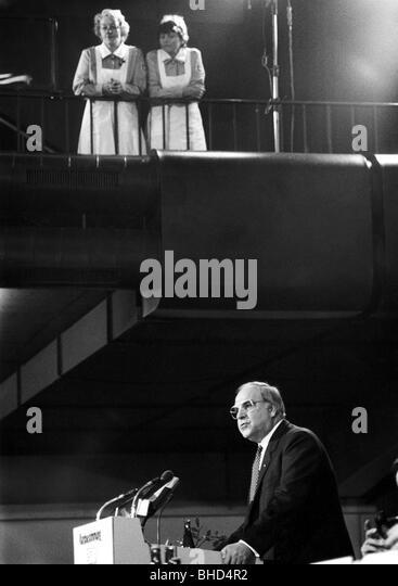 Kohl, Helmut, * 3.4.1930, German politician (CDU), Federal Chancellor 4.10.1982 - 26.10.1998, speech at the CSU - Stock Image