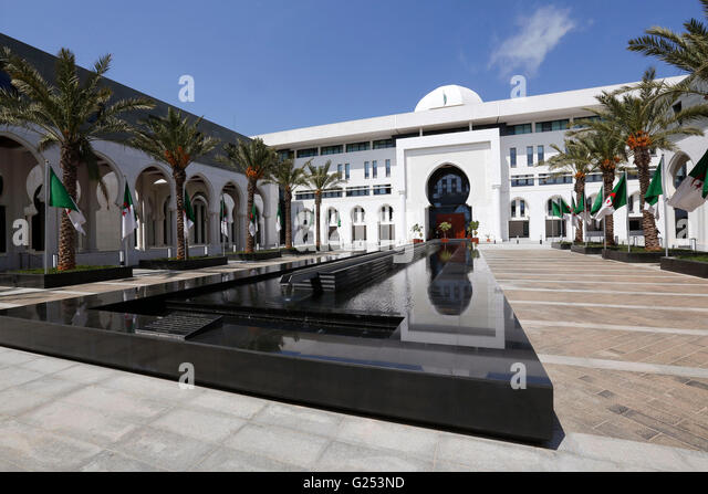 Ministry of Foreign Affairs, Algiers. - Stock Image