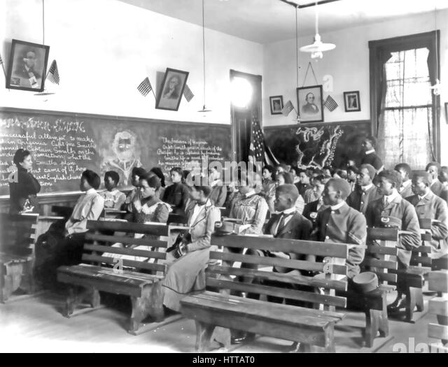 TUSKEGEE NORMAL SCHOOL,Alabama. A history lesson in progress about 1900 - Stock Image