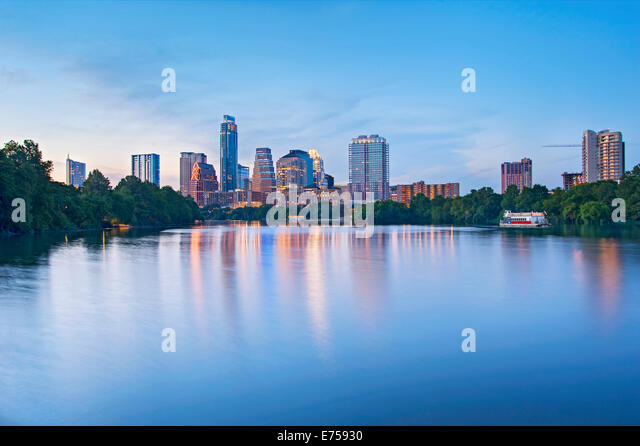 Skyline of Austin, Texas - Stock-Bilder