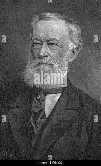Alfred Krupp  -  German industrialist and weapons manufacturer - Stock Image