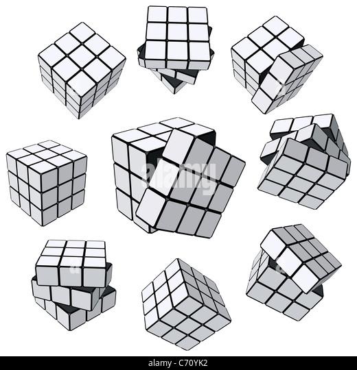 Rubik's Cube puzzle - Stock-Bilder