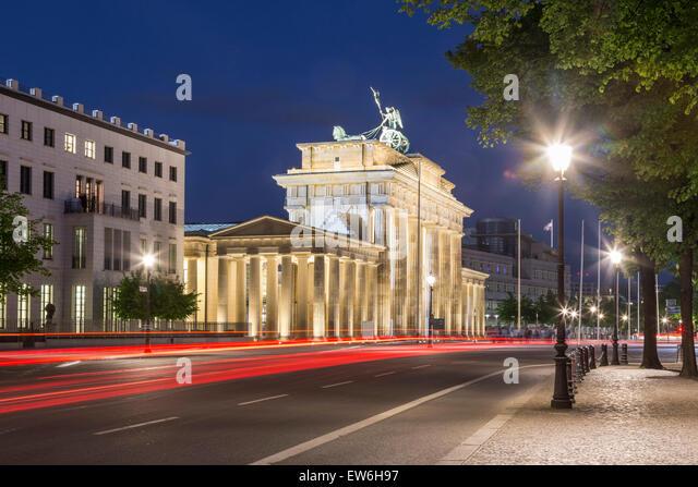 Brandenburg Gate at Twilight,  Berlin - Stock Image