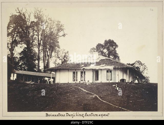 Photograph of Hodgson's bungalow in Darjeeling, c. 1850 - Stock-Bilder