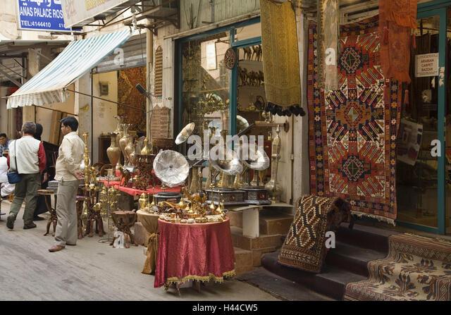 Saudi Arabia, province Riyadh, Riyadh, shops, tourists, - Stock Image