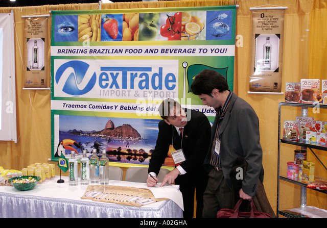 Miami Beach Florida Convention Center Americas Food and Beverage Show Brazil import export - Stock Image