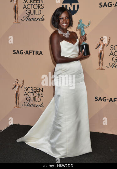 Los Angeles, USA. 29th Jan, 2017. Viola Davis 0269 arriving at the 23rd Annual Screen Actor Awards 2017 at the Shrine - Stock Image