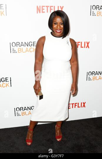 New York, NY, USA. 16th June, 2016. Uzo Aduba at arrivals for ORANGE IS THE NEW BLACK Season Four Premiere on NETFLIX, - Stock Image