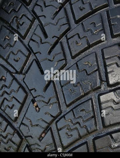 Brand new, high performance summer tire. Close up - Stock-Bilder