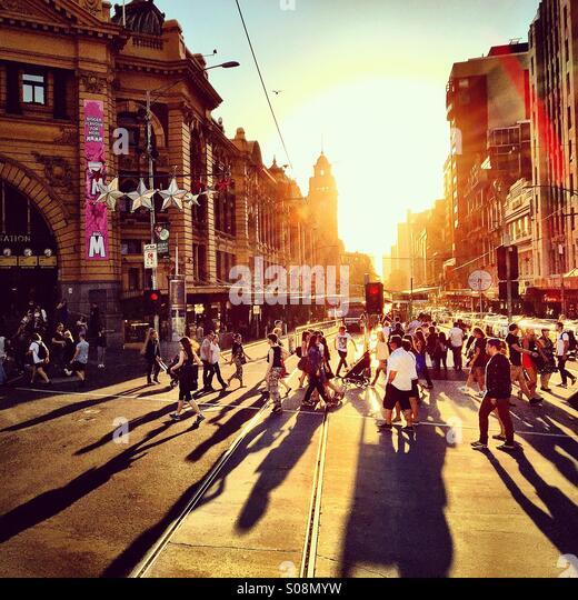 Summer in Melbourne, Australia - Stock Image