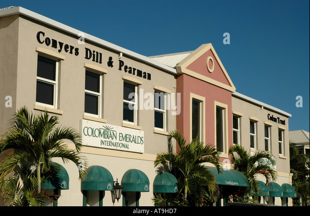 Tortola british virgin islands road town shopping mall - Stock Image