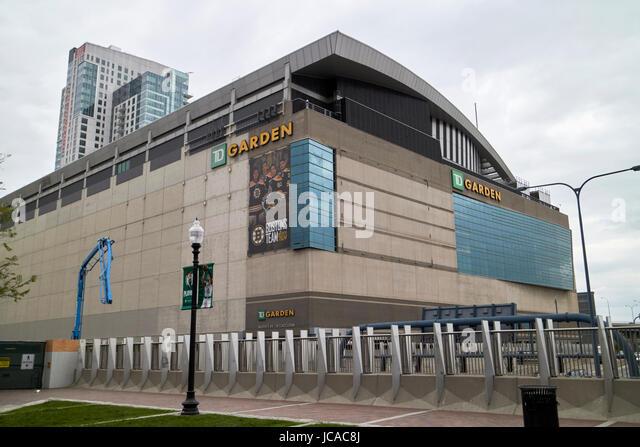 TD garden arena home to the boston bruins and boston celtics Boston USA - Stock Image
