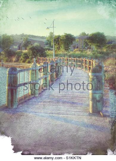 small Bridge over a lake' - Stock Image