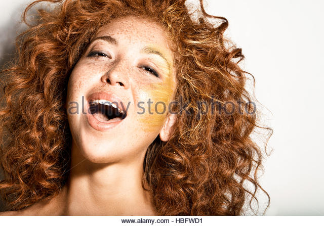 Young Woman laughing - Stock Image