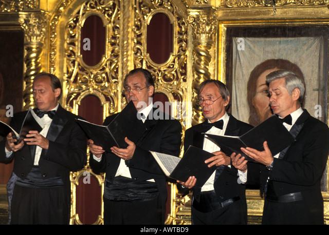 Moscow Russia Church of Gem Ensemble Choir - Stock Image