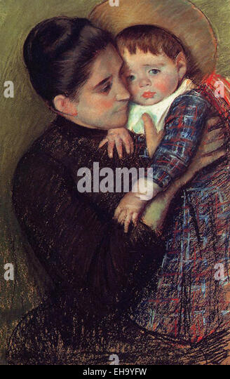 Mary Cassatt  Woman and Her Child - Stock Image