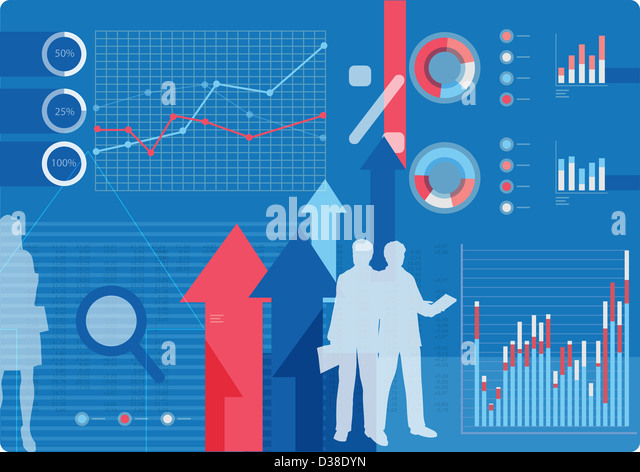 Illustrative image representing business concepts - Stock Image