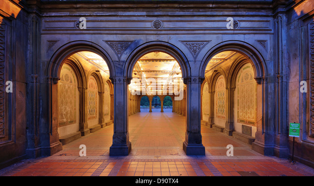 The pedestrian underpass at Bethesda Terrace, Central Park, New York City. - Stock Image