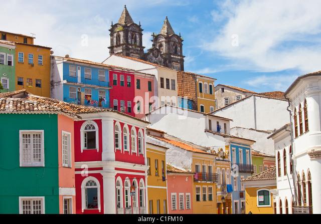The Pelourinho, old Salvador, Brazil - Stock Image