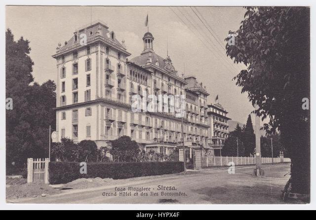 Grand Hotel Des Iles Borromees & Corso Umberto 1°, Stresa, Italy - Stock Image