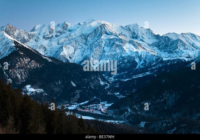Chamonix-Mont-Blanc, French Alps, Haute Savoie, Chamonix, France - Stock-Bilder